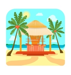 Tropical beach bar summer holiday or vacation vector