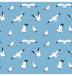 beautiful pattern with seagulls vector image