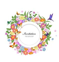 card flower4 vector image
