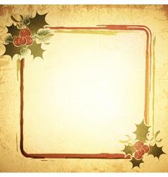 Christmas Decorative Frame vector image