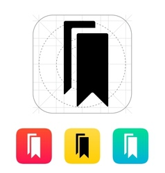Bookmarks icon vector