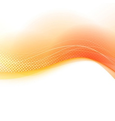 Bright orange transparent swoosh background vector image