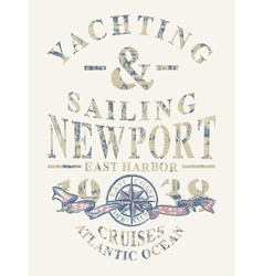 Newport yachting and sailing vector