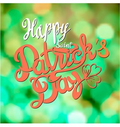 Saint patrick day lettering design vector