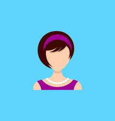 Young woman icon vector