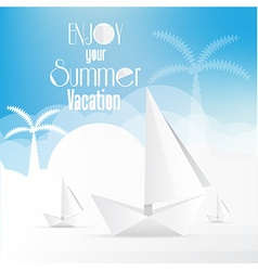 Summer holiday vacation poster vector