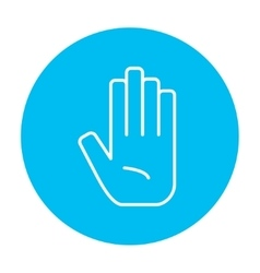 Medical glove line icon vector