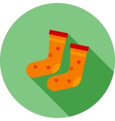 Socks winter vector