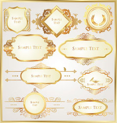 Decorative golden ornate elements vector