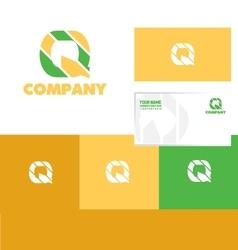 Alphabet letter q logo icon set vector
