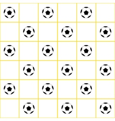 Football ball yellow grid white background vector