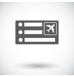 Air ticket vector image vector image