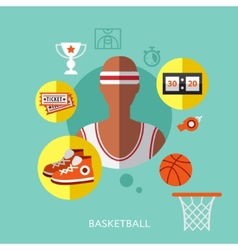 basketball infographic vector image