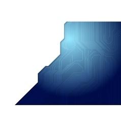 Blue technology circuit board design vector