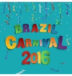 Brazil carnival background vector