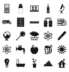 Chemical element icons set simple style vector