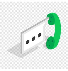 Consultation by phone isometric icon vector