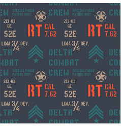 Delta combat crew military pattern vector