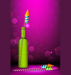 Diwali Firecracker vector image