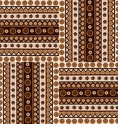 Ethnic ornaments seamless pattern in african style vector image