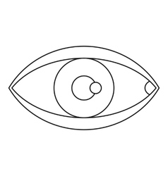 Eye icon outline style vector image vector image