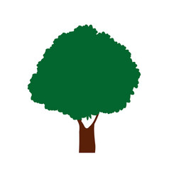 Green tree natural foliage forest icon vector