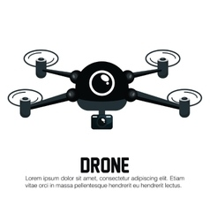 Icon drone technology graphic vector
