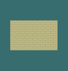 icon in flat design brick wall vector image
