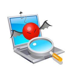 icon laptop virus vector image vector image