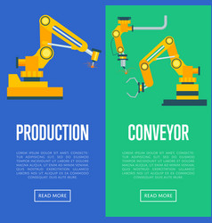 modern production line concept set vector image