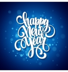 New year greeting card blurred background vector