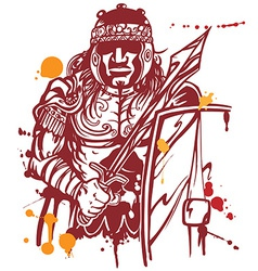 Roman warrior vector
