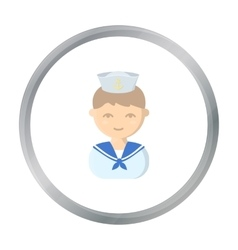 Sailor cartoon icon for web and vector image