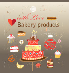 Set of different baking vector