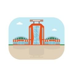 shopping center orange facade vector image vector image
