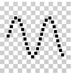 Sinusoid icon vector