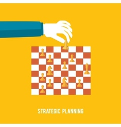 Strategy planning concept vector