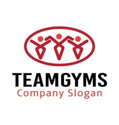 Team Gyms Design vector image