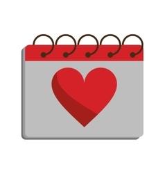 Valentine day calendar love heart date vector