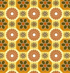 Vintage Floral Orange pattern vector image
