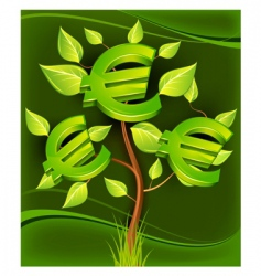 euro tree vector image