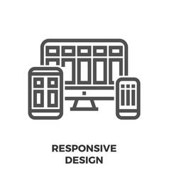 responsive design line icon vector image