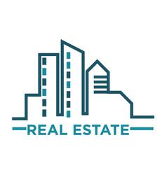Real estate emblem vector