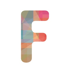 Colorful alphabet f vector