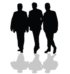 Man in small group silhouette in black vector