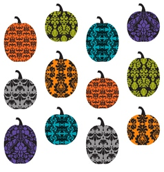 Damask pumpkins vector