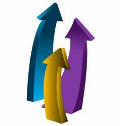 Upward arrows vector