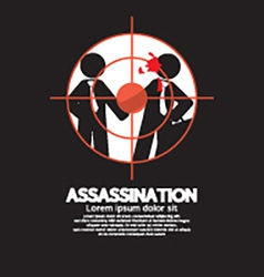 Assassination looking through a sniper view vector
