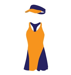 Blue and orange tennis dress vector
