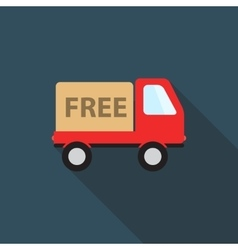 Free delivery icon with long shadow vector
